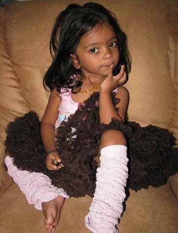 Stunning Zahara modeling her 4aKid Couture Petti-Tutu and Huggulugs.