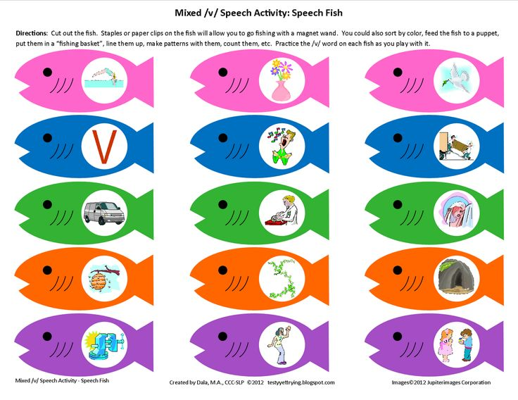 Practice V in Initial and Final Position While Playing with Speech Fish