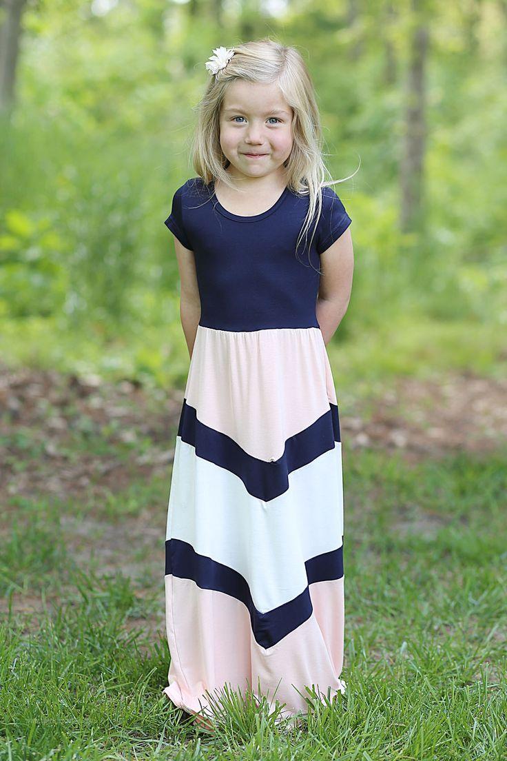 Bella Girls Modest Long Dress | Maxi Dress Girls Sizes 4-10