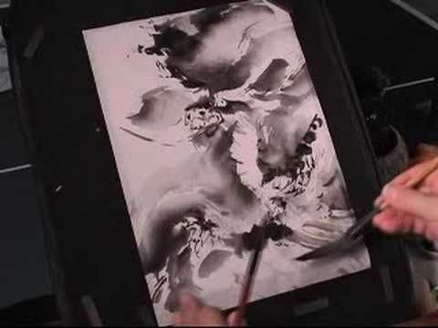 Chinese dragon painting demo
