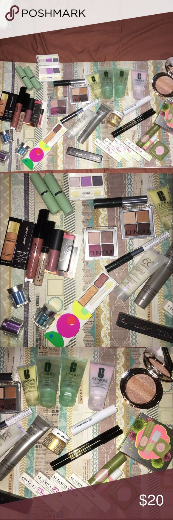 U pick new makeup Unopened, never used .... Clinique, bare minerals, buxom, benefit, boots botanics, no 7, smashbox, and more...    pick 4 items for $15  .     I have other makeup auctions so check those too.     The peter Roth gold is 0.5 oz (15ml) Clinique Makeup