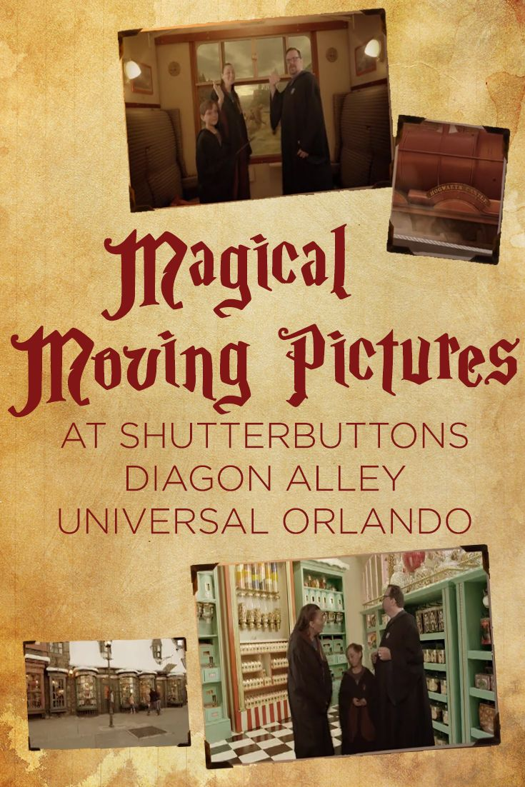 Shutterbuttons Moving Photos at Universal via @lizzp