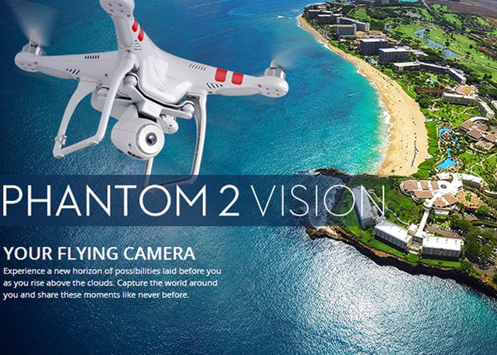DJI Phantom 2 Vision At Action Cameras