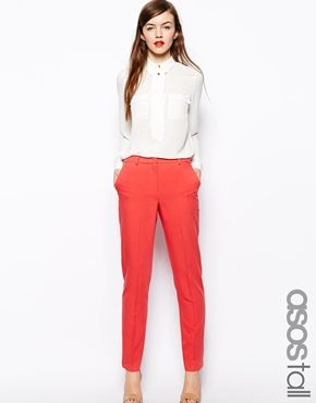ASOS TALL Cigarette Trousers In Crepe