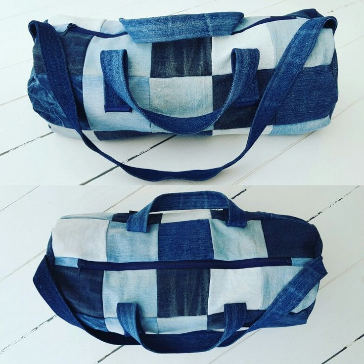 Gym bag made from oldpair of jeans Diy