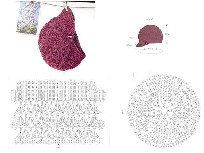 Mejores 98 imágenes de Knitting Hat en Pinterest | Tejer sombreros ...