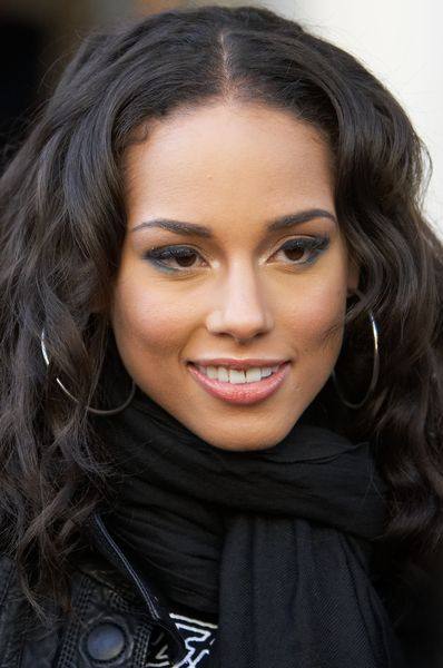 Alicia Keys   The curls are softer and more veil friendly?