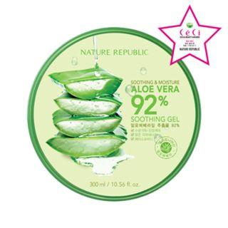 Nature Republic - Смягчающий и Увлажняющий Алоэ 92% Успокаивающий гель http://essheinfohelp.ru/articles/koreyskaya-kosmetika.html