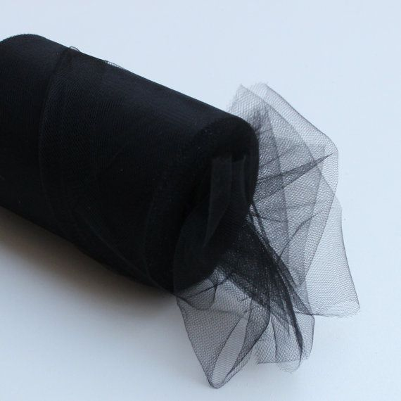 Black tulle roll  6 inches tulle roll  100 yard black by BnBLLC