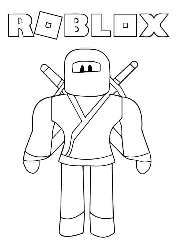 Roblox Ninja Coloring Page Available As A Free Download Roblox Robloxcoloring Coloringbook Coloringsheet Roblo Coloring Pages Bat Coloring Pages Roblox