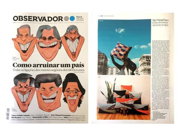 My Friend Paco Cushions At Observador Magazine