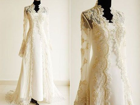 Lace Wedding Dress with Sleeves Appearance | WeddingzIdea.com