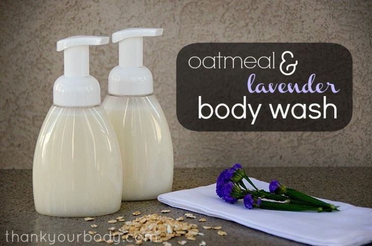 Homemade Body Wash: Oatmeal infused for a soothing touch.