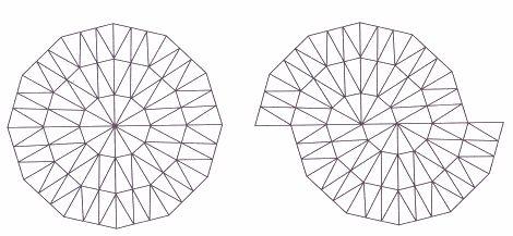 Pavages de Penrose : construction du cerf-volant et de la fléchette