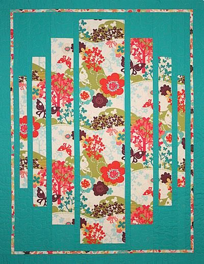 So simple - yet so wonderful! the quilting sometimes makes the quilt as well as the great graphics!