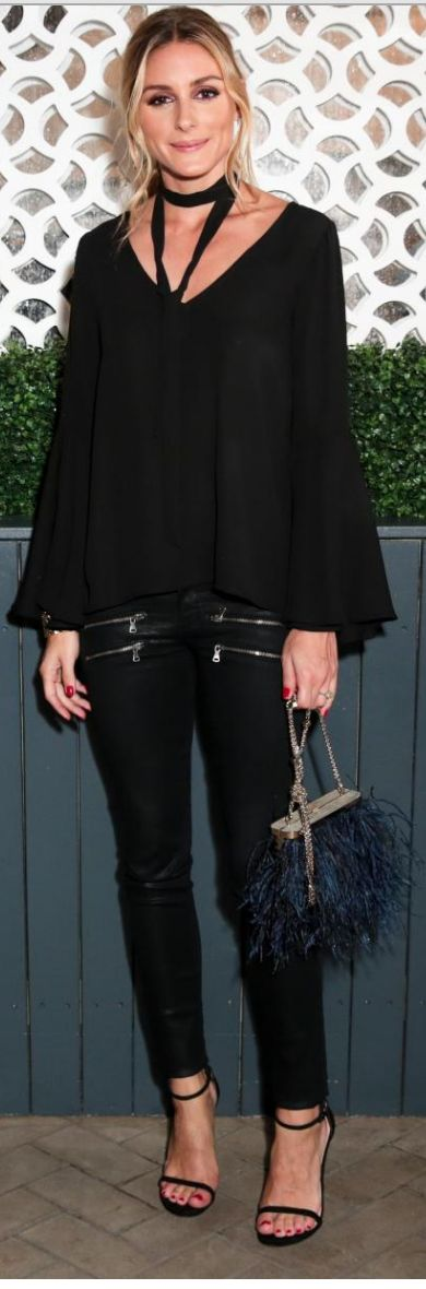 Olivia Palermo: Purse – Barbara Bonner  Shirt – Jay Godfrey  Pants – Paige  Shoes – Stuart Weitzman