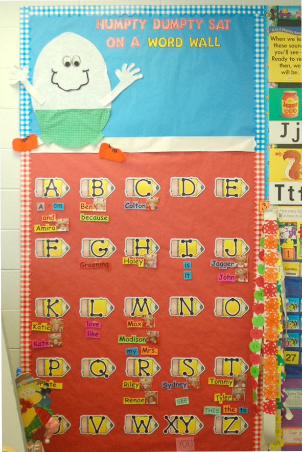 i love how this word wall contains the students own names on word wall id=59303