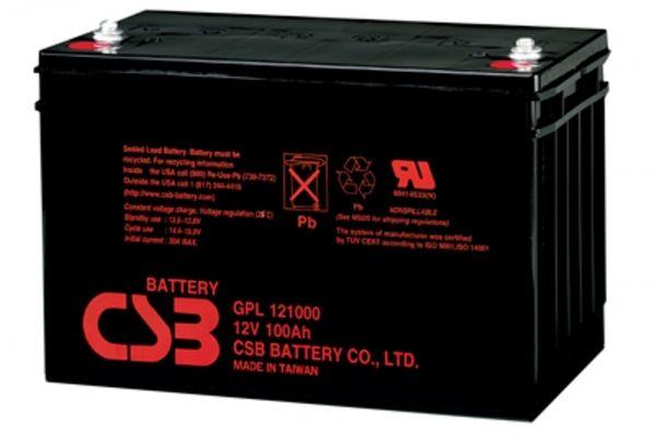 GPL 121000 - батарея общего применения со сроком службы 10лет в буферном режиме или более 260 циклов заряда-разрядав циклическом режиме при 100% разряде.Как и все батареи
