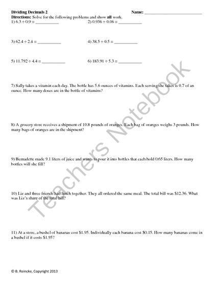 dividing decimals worksheets 3 worksheets from reincke15 on 4 pages. Black Bedroom Furniture Sets. Home Design Ideas