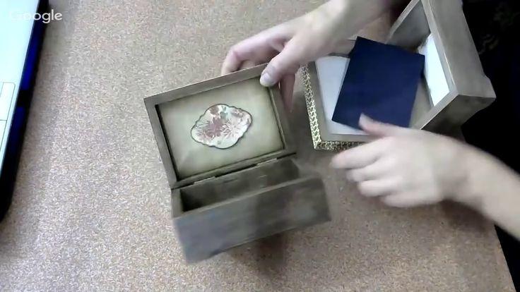 Татьяна Чимбирь. Оформление внутренней части шкатулки.