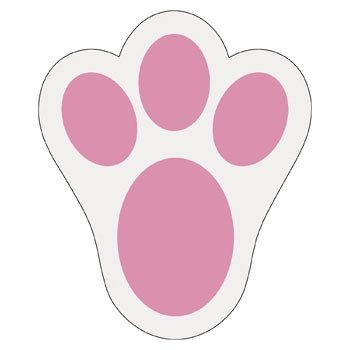 Bunny paw print for template other seasonal diy and for Bunny feet template printable