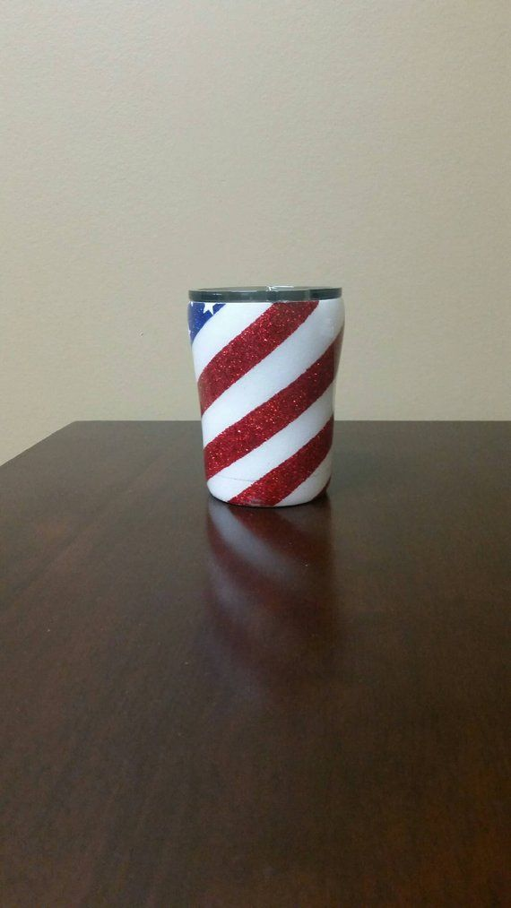 53c138d0c65b American Flag Glitter Tumbler   Red White and Blue   4th of