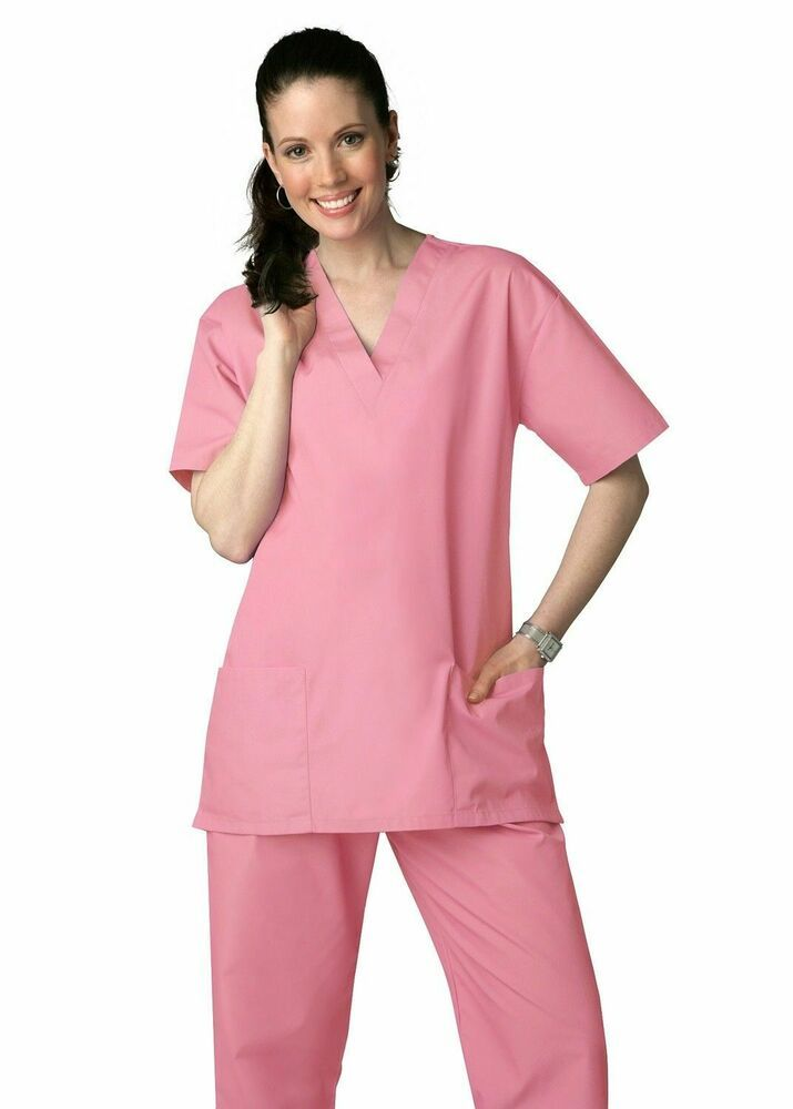 1ad66150b73 eBay #Sponsored Adar Medical Uniforms Unisex Doctor/Nurses Scrub Set Top &  Pants Dusty Rose XXL