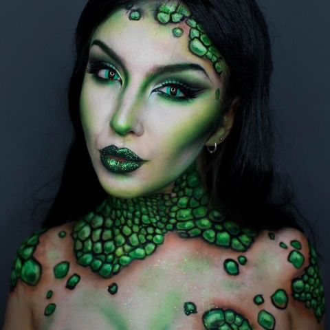 She's a sea creature but she's still sexy. Ideal for the Halloween make-up fans that don't actually want to look 'scary'.
