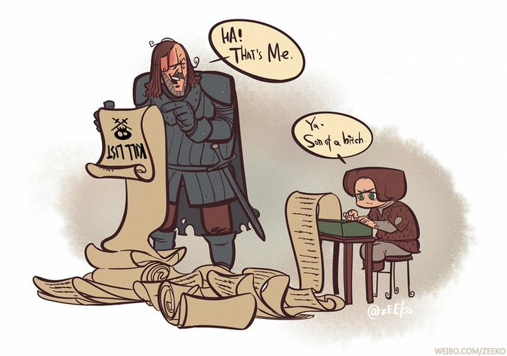Arya and Sandor. Game of Thrones S03E09--KILL LIST by zeekolee.deviantart.com on @deviantART