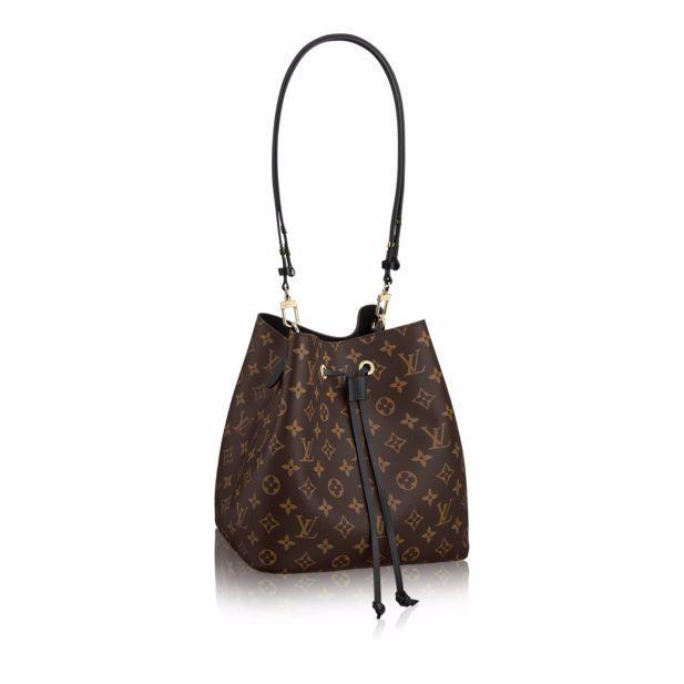 Louis Vuitton Noir Monogram Canvas Neonoe Bag