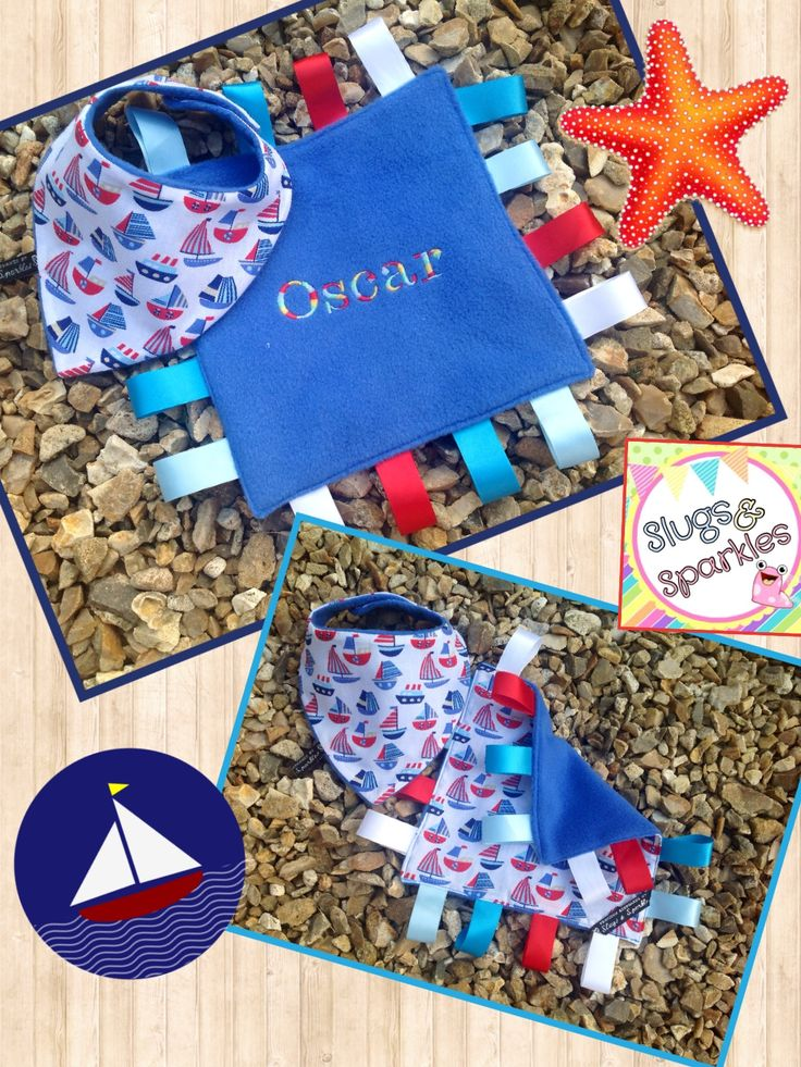 Personalised tagging and bib set for a new born.... great gift idea!