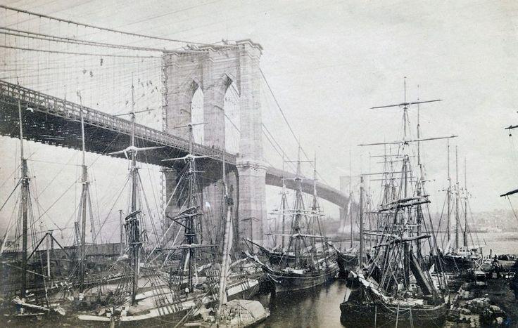 Most Brookliński w 1883 roku