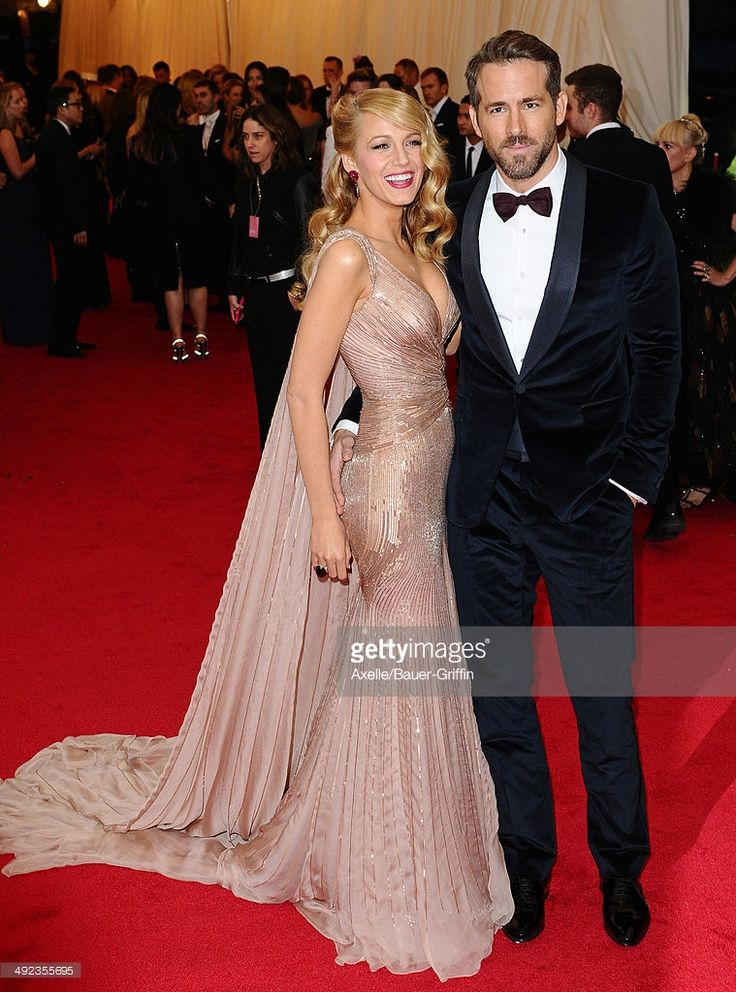 Blake Lively and Ryan Reynolds attend the 'Charles James: Beyond Fashion' Costume Institute Gala at the Metropolitan Museum of Art on May 5, 2014 in New York City.  (Photo by Axelle/Bauer-Griffin/FilmMagic)