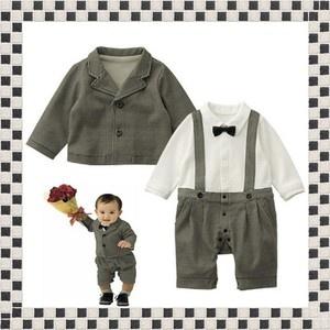 2Pcs Set Baby Boy Formal Wear Suit Tuxedo Christening Wedding Page Boy 3-27M