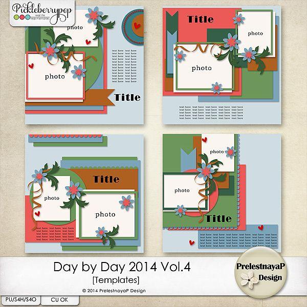 Day by Day 2014 Vol.4 Templates by PrelestnayaP Design