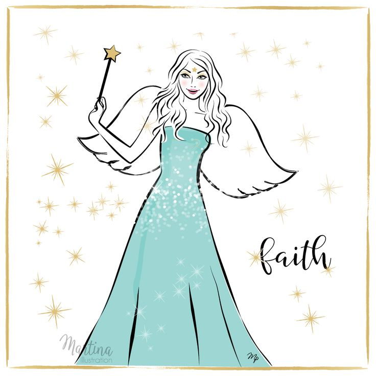 Stylish Advent Calendar DAY 17   I wish you FAITH  Let it be bigger than your fear, to move mountains, kill the doubts, do impossible, and trust in what you do not see. Because your future is only as bright as your faith.  Angel fashion illustration