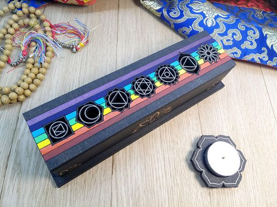 Incense holder, incense incense burner, ash catcher, tibetan style. Fire Safe construction. Chakra signs on top. Hand painted. #incense #incensestick #incensecone #smudge #incenseholder #incenseburner #meditation #spiritualpractice #spiritual #practice #yoga #buddhism #tibetan #tibetanstyle #tibetandesign #incensesmoke #incensemeaning #incensestand #incenseburning