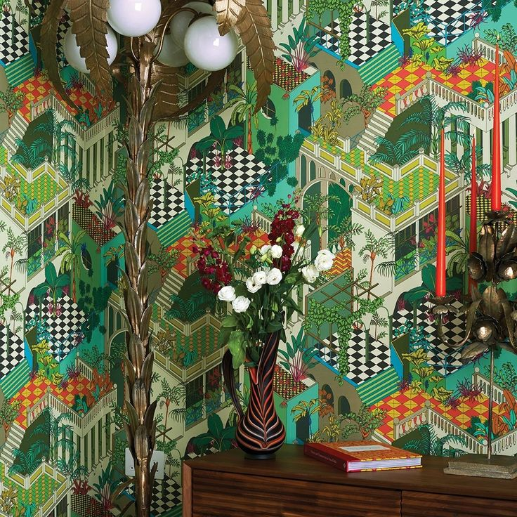 cool colourful bright funky wallpaper wall covering nz ...