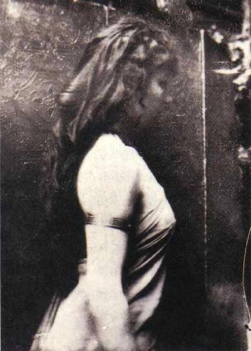 Camille Claudel (1864-1943) posing for Auguste Rodin (1840-1917)