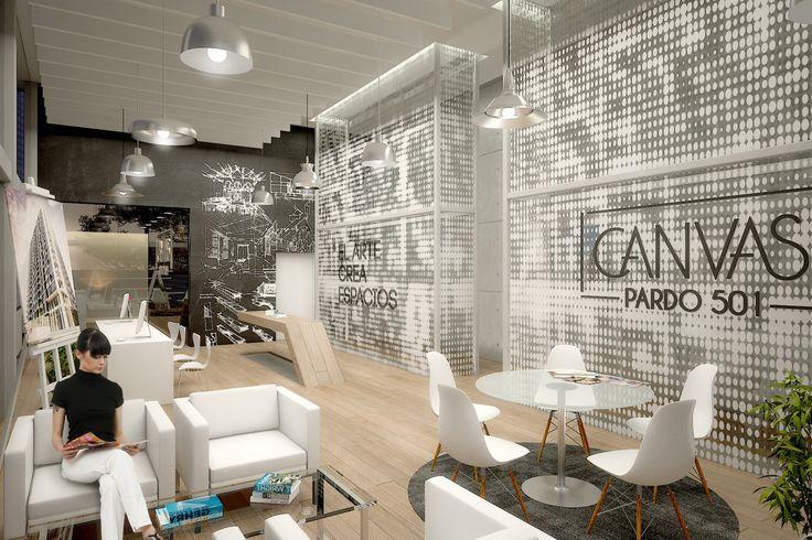 Propuesta interior para sala de ventas CANVAS en Miraflores // Diseño: S-XL…