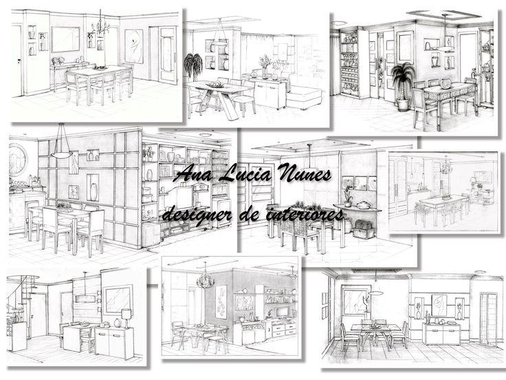 Salas de Jantar - Projetos Designer Ana Lucia Nunes
