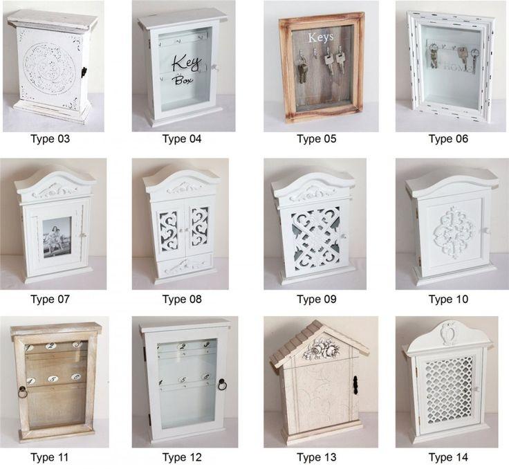schl sselkasten schl sselbrett schl ssel aufbewahrung holz vintage natur weiss home decoration. Black Bedroom Furniture Sets. Home Design Ideas