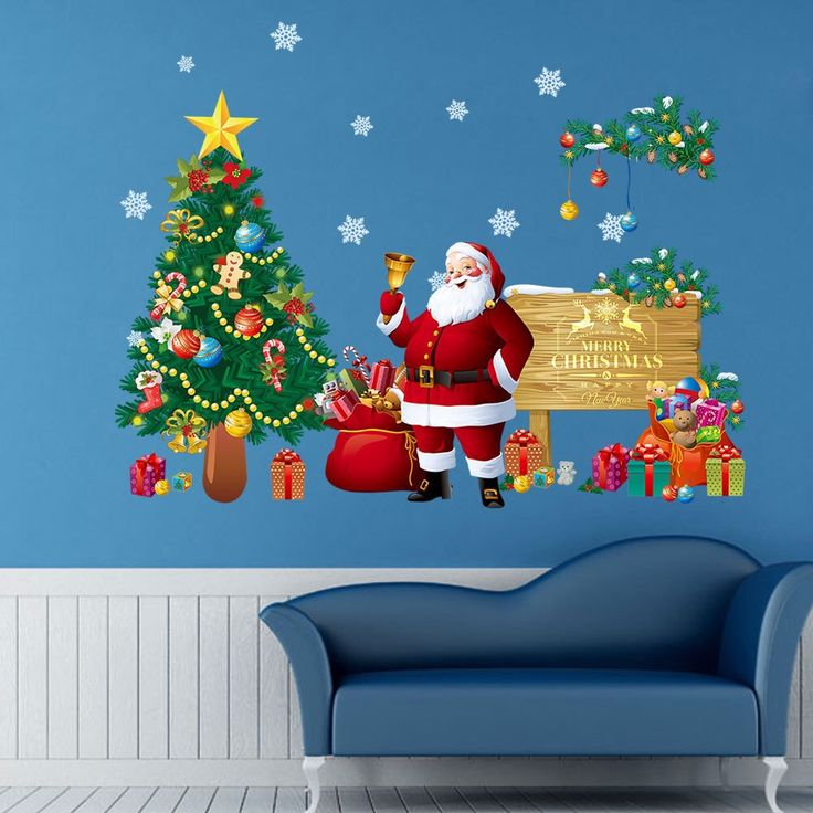 Christmas Wall Stickers 48 best Holiday Wall