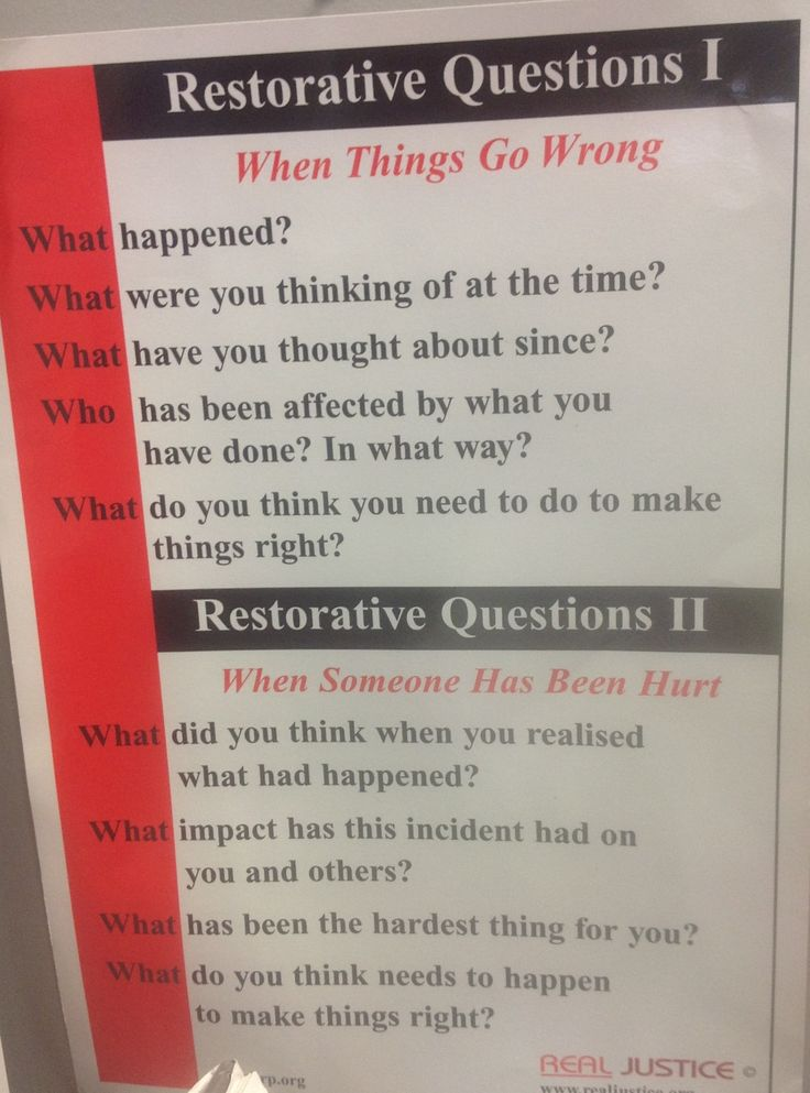 Day 4: Questions to guide restorative practices. Teachers and students can use to be mediators!