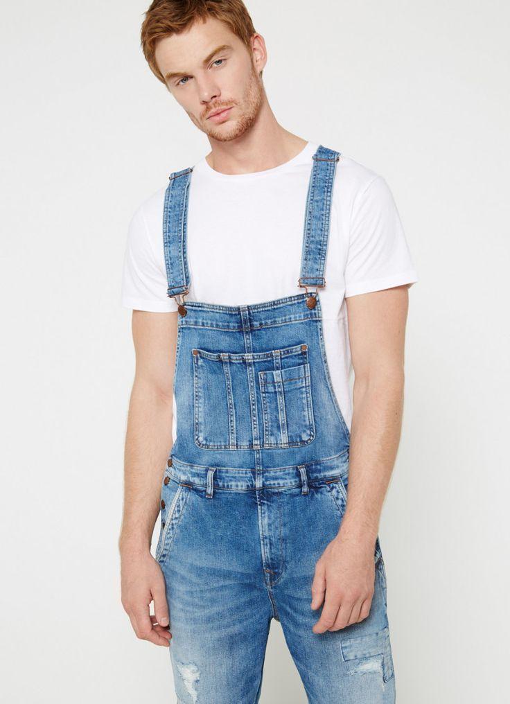 SALOPETTE EN JEAN 'DOUGIE'   HOMME   Pepe Jeans London