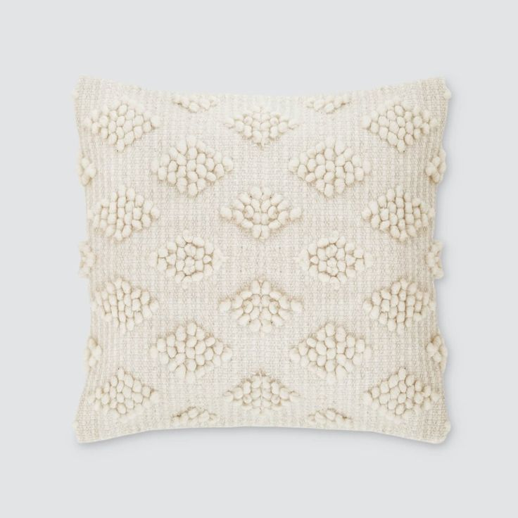 Handcrafted in Mexico by MexChic Design Studio Chunky, textured, and extremely cozy, this piece brings a touch of warmth and dimension to any room. Hand-loomed using pure sheep's wool, this cream colo