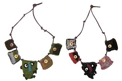 knitted necklaces - Google Search