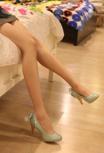 #Silk Bowknot#Silk Bowknot Embellished Lace High Heel Pumps Blue http://www.clothing-dropship.com/silk-bowknot-embellished-lace-high-heel-pumps-blue-g1287427.html