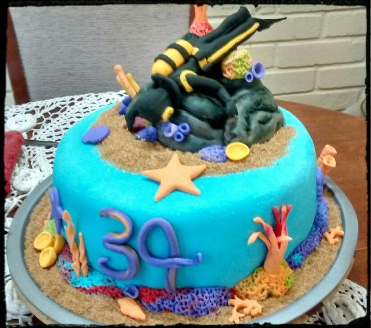 Torta cumpleaños buzo