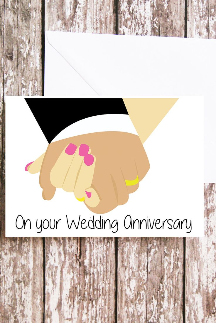 Wedding Anniversary Card, Holding Hands, First Anniversary Card, for them, His and Her, Marriage Card, Congratulations Card, Special Couple by peenanator on Etsy